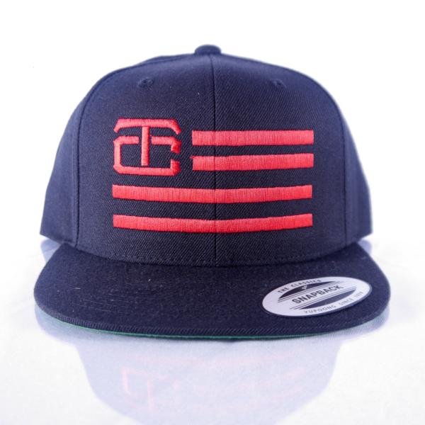 Tac city Black Snapback w/red logo